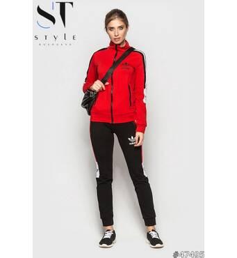 Спортивный костюм 47495 (черный/красный)