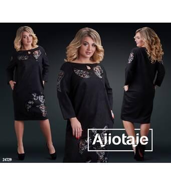 Платье - 24729 (черный)
