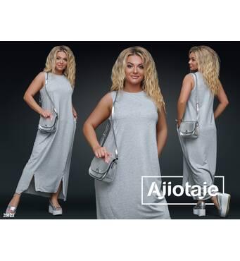 Платье - 26123 (серый)
