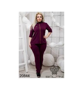 Стильный спортивный костюм  (бордо) - 20844