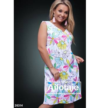 Платье - 26314 (белая основа)