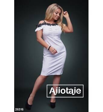 Платье - 26316 (белая основа)