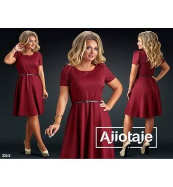 Платье - 22412 (бордовый)