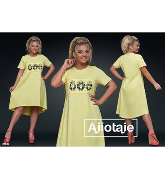 Сукня - 26139 (жовтий)