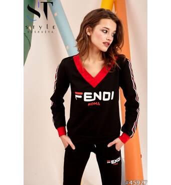 Спортивный костюм 45927 (черный/красный)