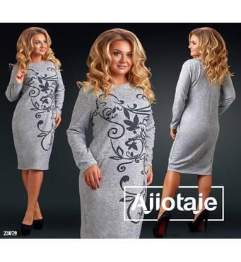 Платье - 23079 (серый)