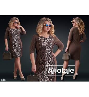 Платье - 24745 (шоколад)