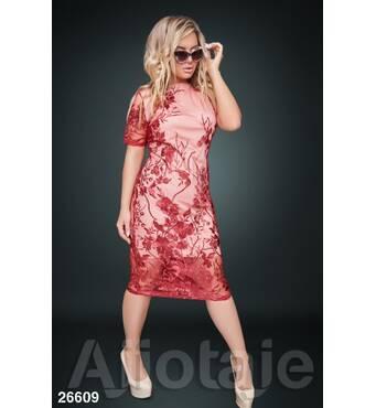 Платье - 26609 (бордовый)