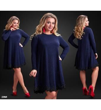 Сукня - 23969 (темно-синій)