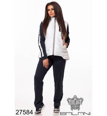 Костюм спортивний трійка   (чорний/білий) - 27584