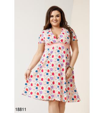 Женское платье 18811 персиковый