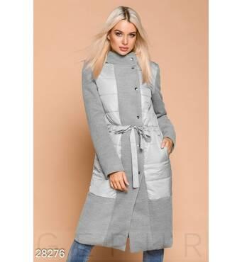 Пальто зі вставками