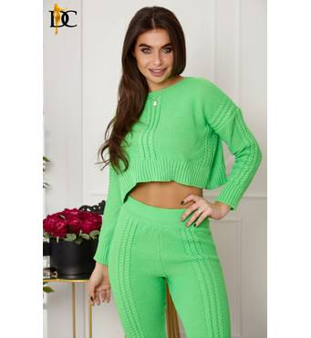Повседневный зеленый неоновый костюм (зелёный)