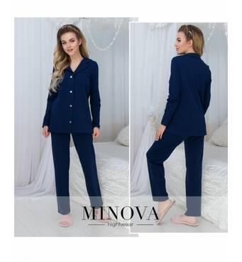 Пижама №924-темно-синий