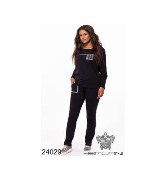 Спортивный костюм   (черный) - 24029