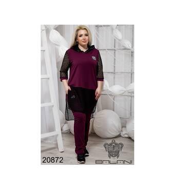 Элегантный спортивный костюм  (бордо) - 20872