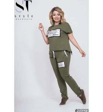 Спортивний костюм 50273 (хакі)