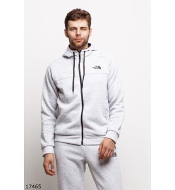 Чоловічий утеплений спортивний костюм 17465 сірий