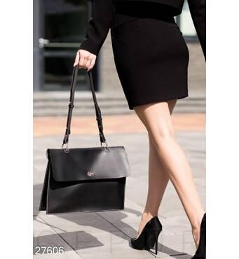 Кожаная сумка-портфель