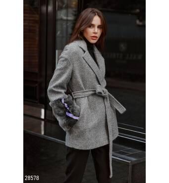Коротке вовняне пальто