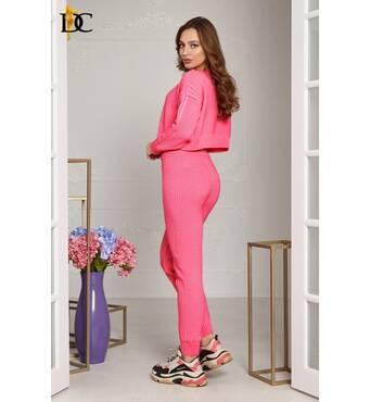 Повседневный неоновый костюм розового цвета (розовый)
