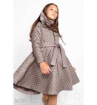 Стеганое пальто-платье