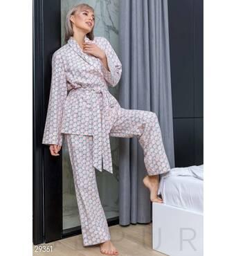 Теплая пижама с принтом