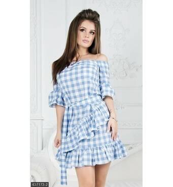Платье 437173-2 голубой Лето-Осень 2017 Украина