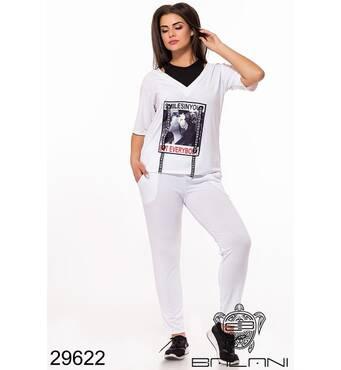Спортивний костюм   (білий) - 29622