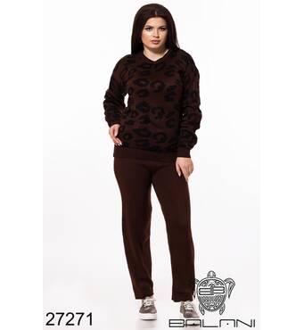 Спортивний костюм   (леопард/шоколад) - 27271