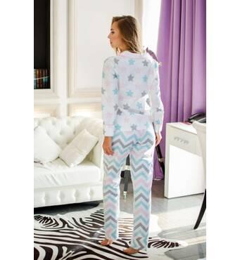 Пижама с принтом звёздочка (мультиколор)