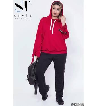 Спортивный костюм 43862 (красный/черный)