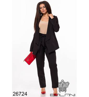 Брючный костюм  (черный) - 26724