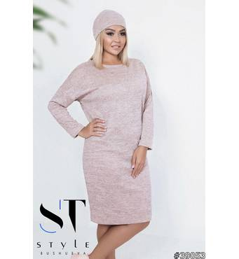 Комплект двійка 39053 (сукня пов'язка-хомут) (персик)