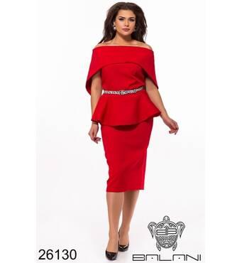 Елегантний костюм   (червоний) - 26130
