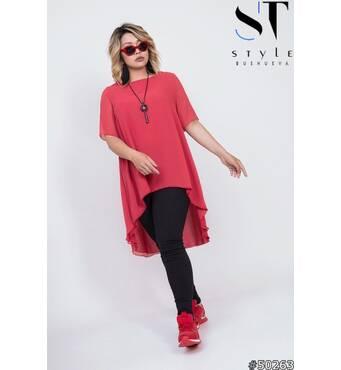 Костюм 50263(туника+брюки) (красный/черный)