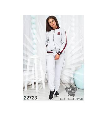 Костюм спортивний з кофтою   (білий) - 22723