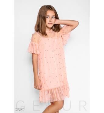Детское платье-сетка