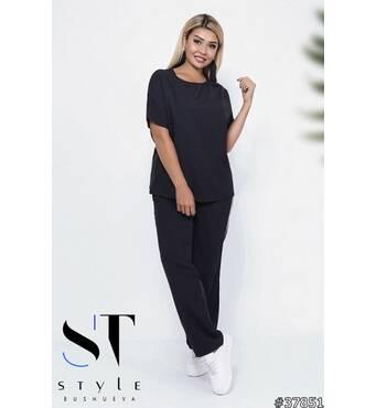 Костюм 37851 (блуза брюки) (чорний)