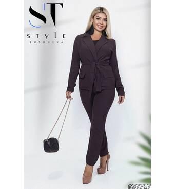 Костюм 37717(пиджак+брюки) (коричневый)