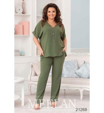 Женский костюм 21268 зеленый