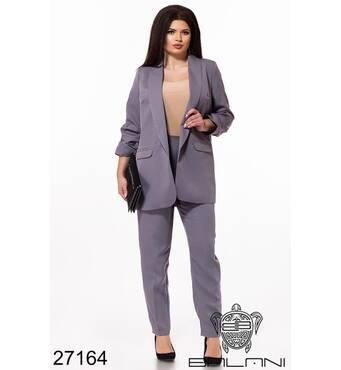 Брючний костюм   (сірий) - 27164