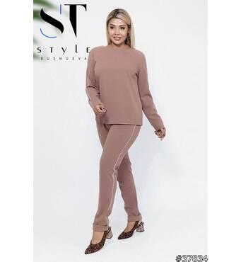 Костюм 37834 (блуза брюки) (капучіно)