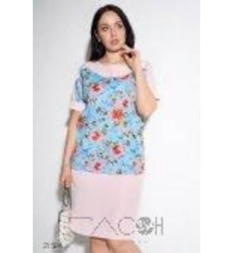 Комплект із спідниці і блузи з квітковим принтом
