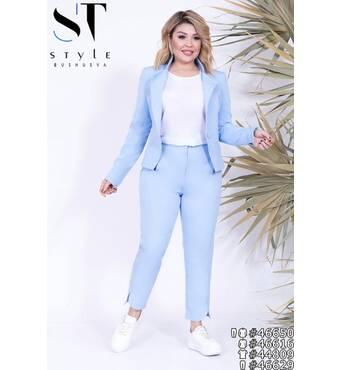 Костюм  46650 (піджак брюки) (блакитний)