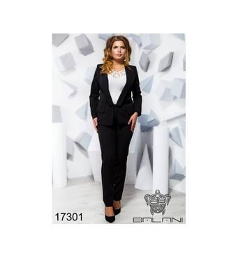 Брючний костюм   (чорний) - 17301
