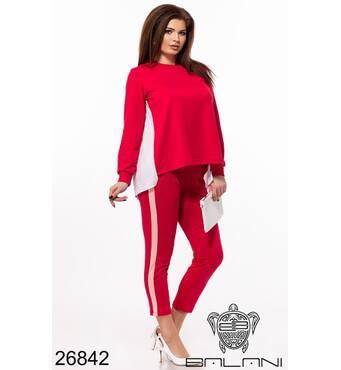 Брючний костюм   (червоний) - 26842