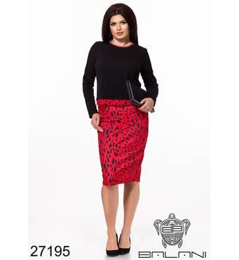 Спідничий костюм   (леопард/червоний) - 27195