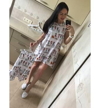 """Платье """"Кукла"""" Арт. 0065 (белый) kll-5908870"""