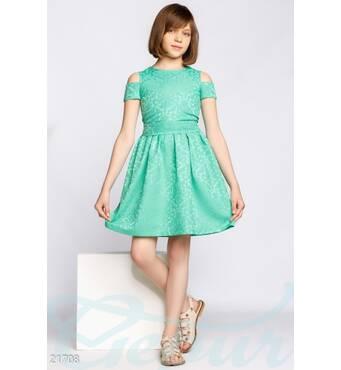 Сукня з жаккарда